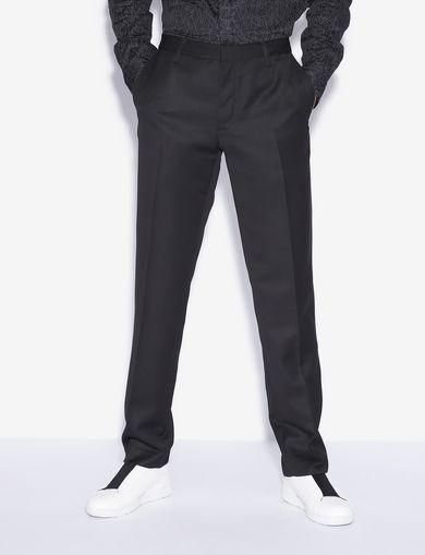 아르마니 익스체인지 Armani Exchange CREASE-FRONT DRESS PANT,Black
