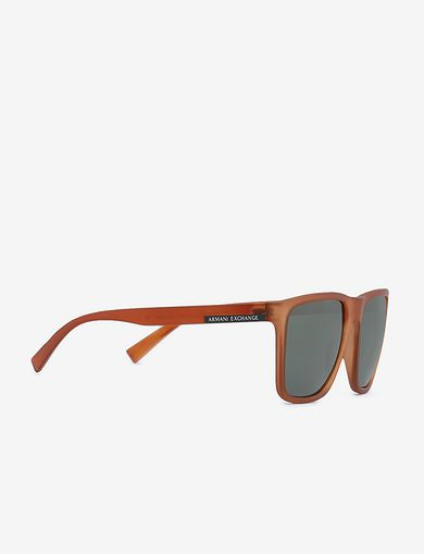 아르마니 익스체인지 선글라스 Armani Exchange TRANSLUCENT ORANGE CLASSIC SUNGLASSES,Brown
