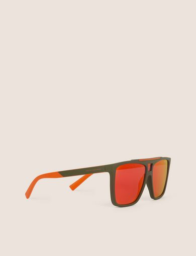 아르마니 익스체인지 Armani Exchange ORANGE MIRRORED MODIFIED AVIATOR,Dark Violet