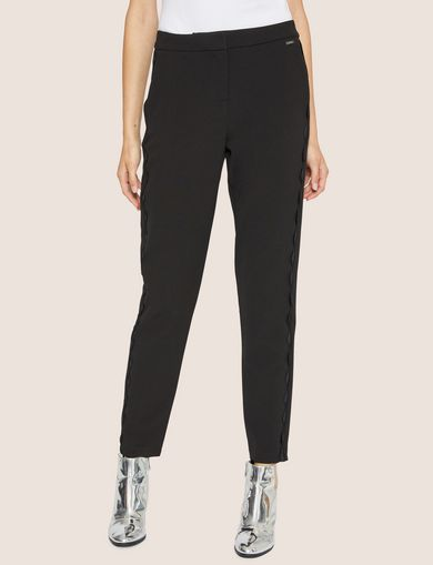 아르마니 익스체인지 Armani Exchange RICKRACK DETAIL TROUSER,Black