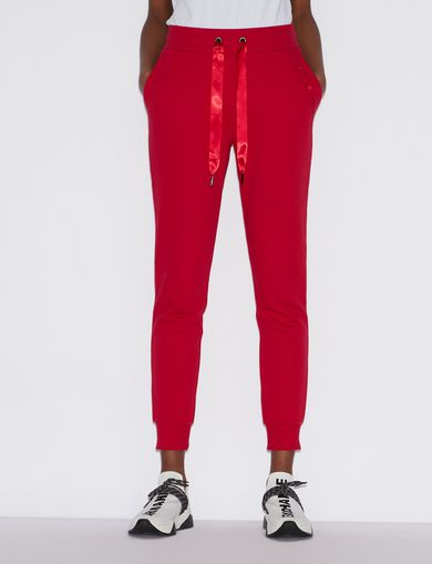 아르마니 익스체인지 Armani Exchange SPORTY TROUSERS WITH CONTRASTING DETAILS,Red