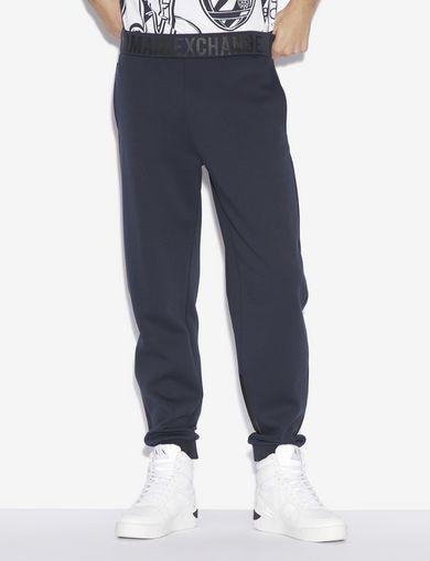 아르마니 익스체인지 Armani Exchange Fleece Pants,Navy Blue