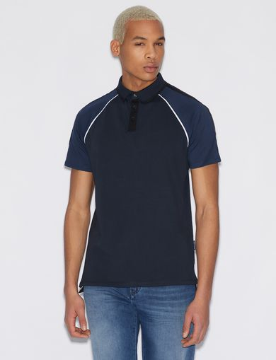 아르마니 익스체인지 Armani Exchange JERSEY POLO SHIRT,Navy Blue