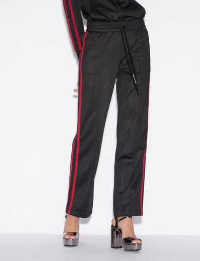 아르마니 익스체인지 Armani Exchange TROUSERS WITH CONTRASTING BAND,Black