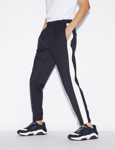 아르마니 익스체인지 Armani Exchange TROUSERS WITH ELASTIC ON HEM,Midnight Blue