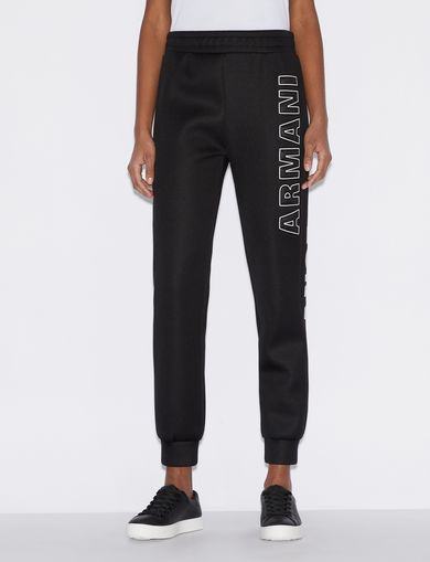 아르마니 익스체인지 Armani Exchange WETSUIT-STYLE TROUSERS,Black