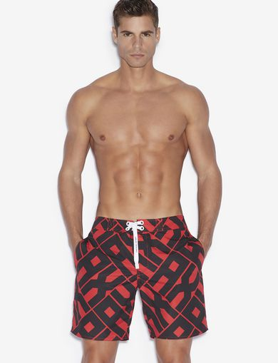 아르마니 익스체인지 Armani Exchange SWIM TRUNKS,Red