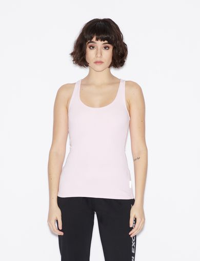 아르마니 익스체인지 Armani Exchange SOLID COLOUR TANK,Pale Rose