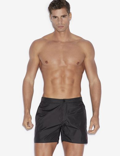 아르마니 익스체인지 Armani Exchange SWIMMING TRUNKS WITH REAR POCKET,Black
