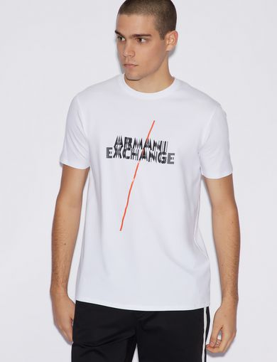 아르마니 익스체인지 Armani Exchange SLIM T-SHIRT,White