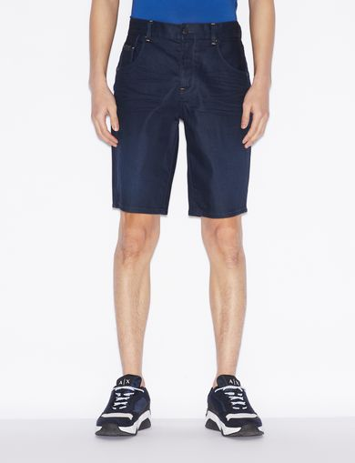 아르마니 익스체인지 Armani Exchange BERMUDA SHORTS IN DENIM,Ink Blue