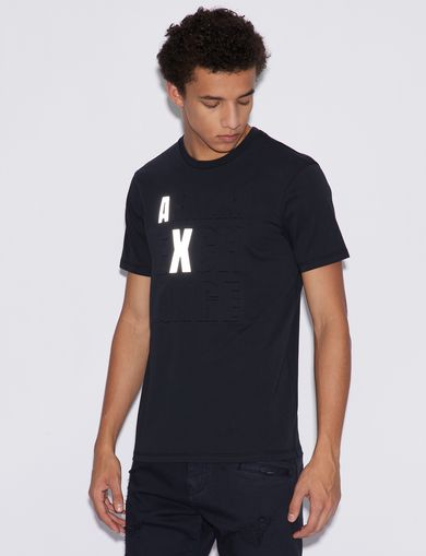 아르마니 익스체인지 Armani Exchange T-SHIRT WITH PRINT,Navy Blue