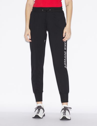 아르마니 익스체인지 Armani Exchange SPORTY TROUSERS,Black
