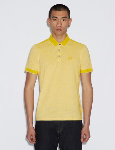 아르마니 익스체인지 Armani Exchange SHORT SLEEVES POLO,Saffron Yellow