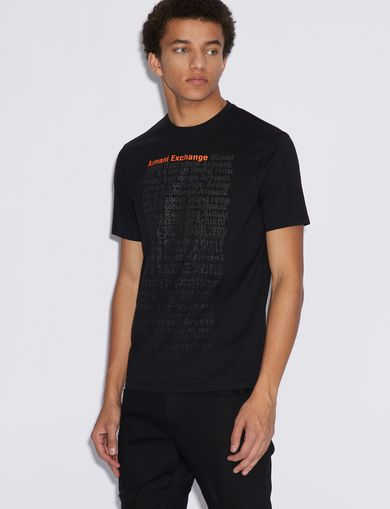 아르마니 익스체인지 Armani Exchange T-SHIRT WITH PRINT,Black