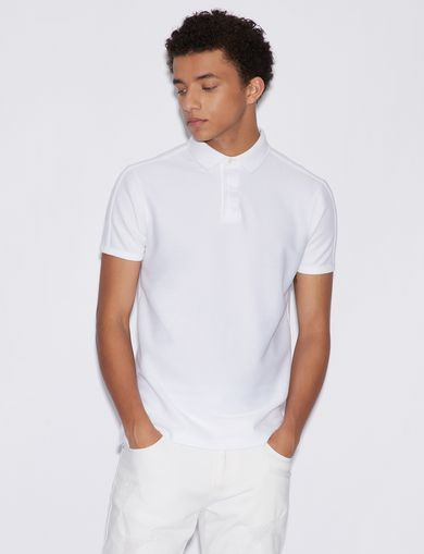 아르마니 익스체인지 Armani Exchange UNICOLOURED POLO SHIRT,White
