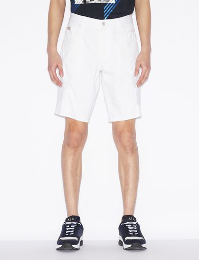 아르마니 익스체인지 Armani Exchange BERMUDA SHORTS IN DENIM,White