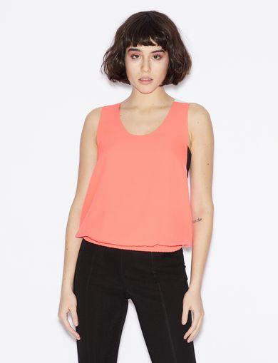 아르마니 익스체인지 Armani Exchange THREE-COLOUR TOP,Bright Pink
