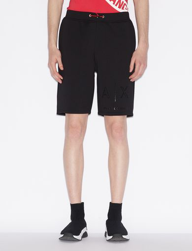 아르마니 익스체인지 Armani Exchange BERMUDA SHORTS WITH TONE ON TONE LOGO,Black