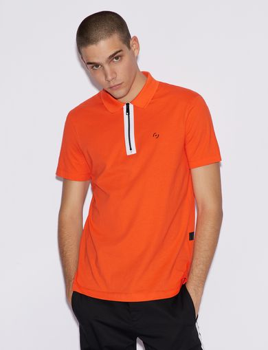 아르마니 익스체인지 Armani Exchange POLO SHIRT WITH CONTRAST PROFILES,Orange