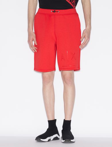 아르마니 익스체인지 Armani Exchange BERMUDA SHORTS WITH TONE ON TONE LOGO,Red