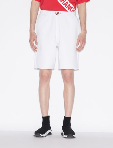 아르마니 익스체인지 Armani Exchange BERMUDA SHORTS WITH TONE ON TONE LOGO,White