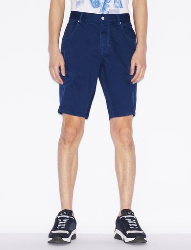 아르마니 익스체인지 Armani Exchange DENIM BERMUDA SHORTS,Ink Blue