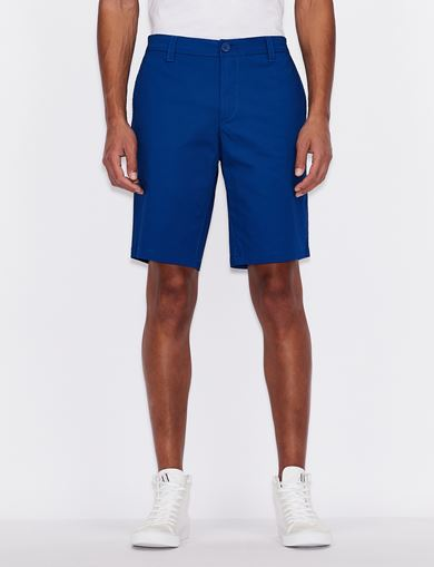 아르마니 익스체인지 Armani Exchange PLAIN BERMUDA SHORTS,MARINE