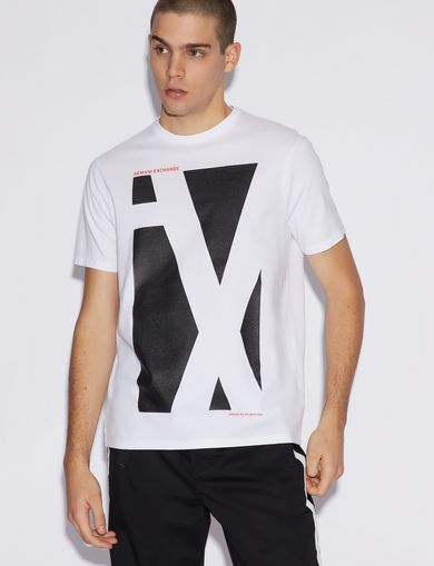 아르마니 익스체인지 Armani Exchange T-SHIRT WITH PRINT,White