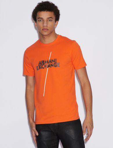 아르마니 익스체인지 Armani Exchange SLIM T-SHIRT,Orange