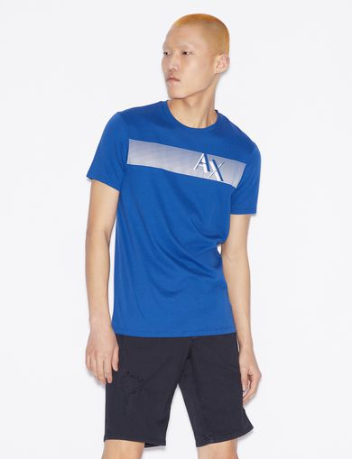 아르마니 익스체인지 Armani Exchange SLIM T-SHIRT,MARINE