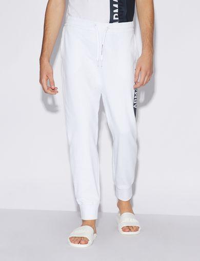 아르마니 익스체인지 Armani Exchange Fleece Pants,White