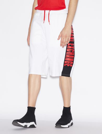 아르마니 익스체인지 Armani Exchange OVERSIZE BERMUDA SHORTS,White