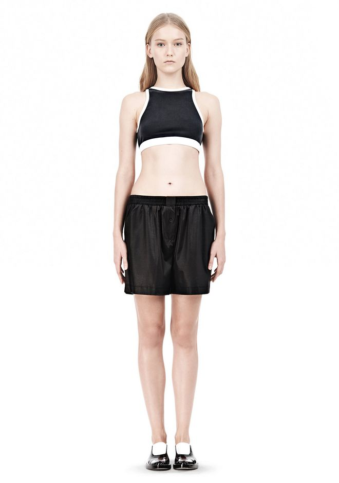 T by ALEXANDER WANG  PIQUE DOUBLE KNIT SPORTS BRA TOP Adult 12_n_f