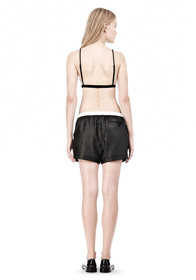 T by ALEXANDER WANG LUX PONTE TRIANGLE BRA TOP Adult 12_n_r