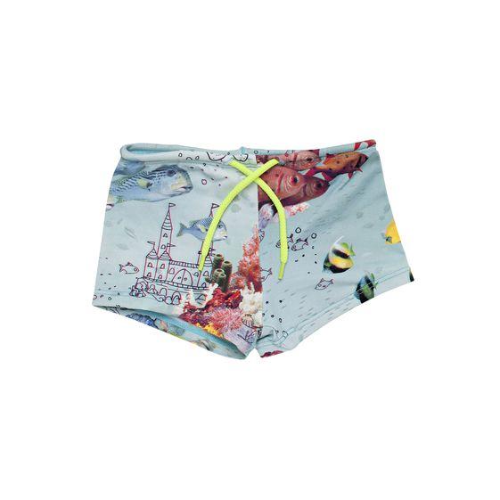 STELLA McCARTNEY KIDS, Swim Short, FINN SEA PRINT SWIM SHORTS