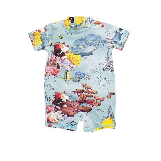 STELLA McCARTNEY KIDS, Swimsuits, TAYLOR SEA PRINT SWIM ALL-IN-ONE