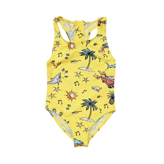 STELLA McCARTNEY KIDS, Swimsuits, IMOGEN BEACH PRINT SWIMWEAR