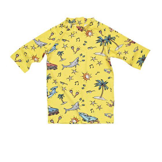STELLA McCARTNEY KIDS, Swim Tshirt, SPLASH BEACH PRINT SWIM T-SHIRT
