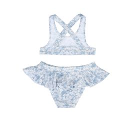 STELLA McCARTNEY KIDS, Bikinis, Bikini top and bottoms featuring a blue daisy print, inspired by the mainline collection.