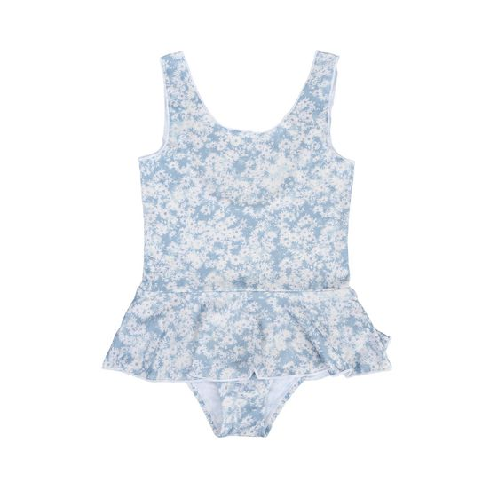 STELLA McCARTNEY KIDS, Swimsuits, Swimsuit featuring a blue daisy print, inspired by the mainline collection.