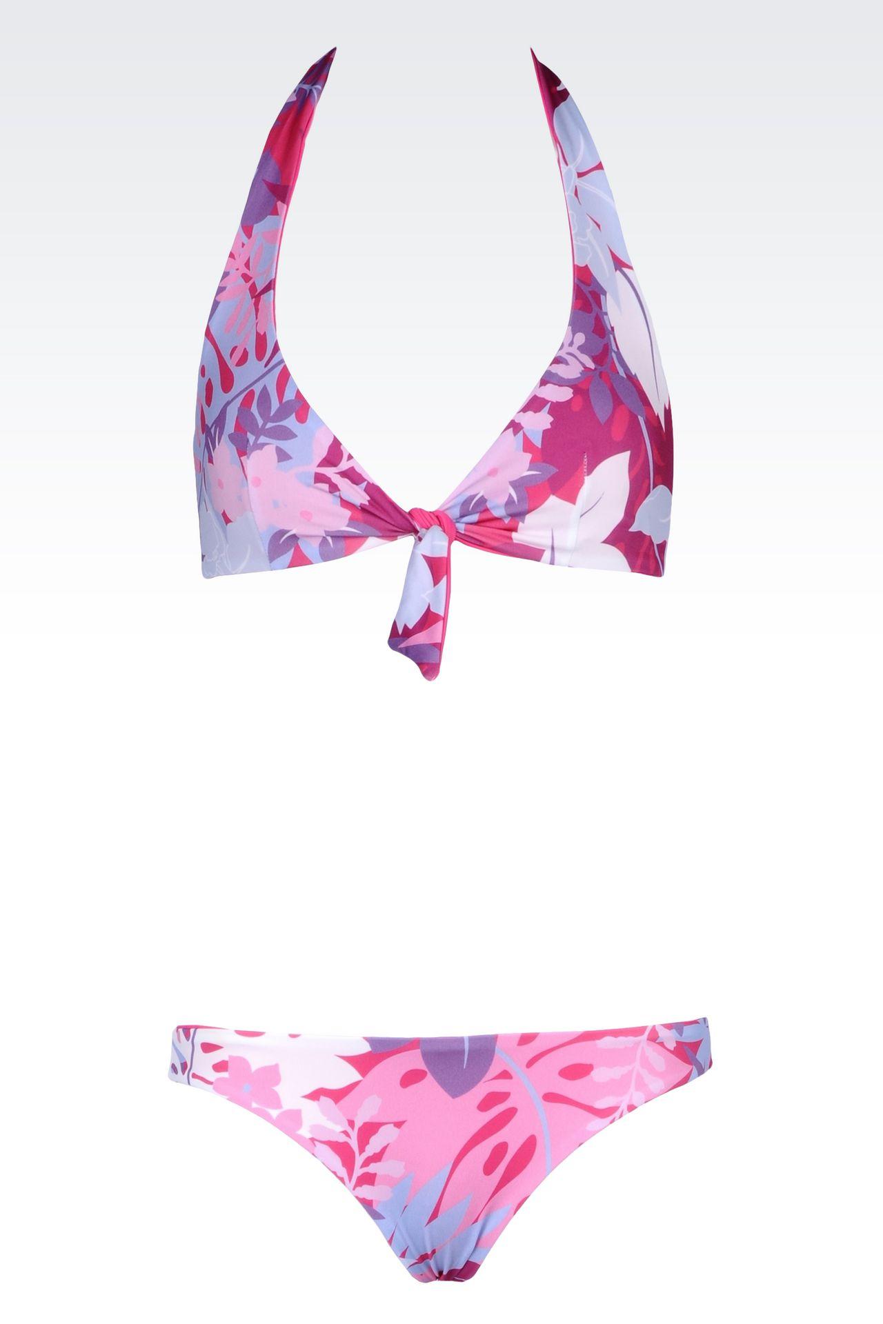 SEA WORLD LINE REVERSIBLE TRIANGLE BIKINI: Swimsuits Women by Armani - 0