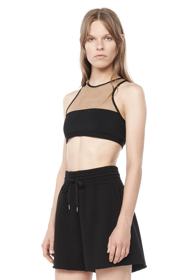 T by ALEXANDER WANG resort-2016 MESH COMBO SWIM TOP