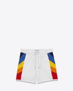 Shorts da surf multicolore in poliestere e cotone