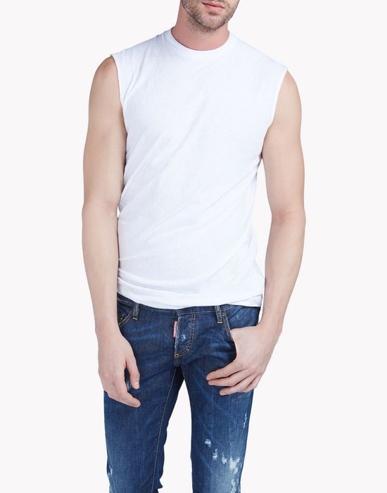twisted fit tank top camisetas y tops Hombre Dsquared2