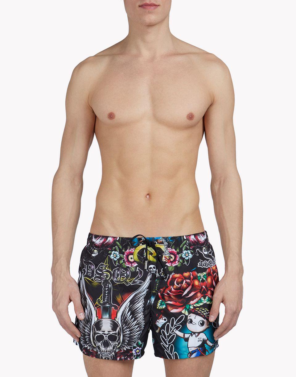 tattoo swim shorts beachwear Man Dsquared2
