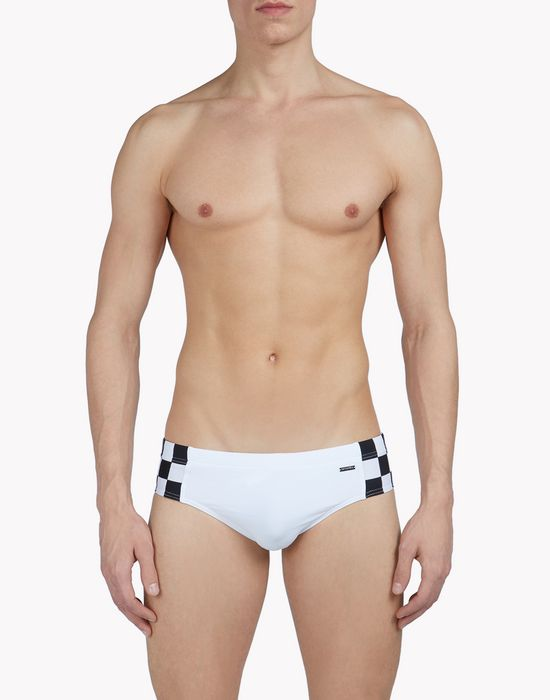 check swin slips beachwear Man Dsquared2