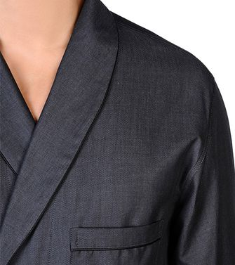 ERMENEGILDO ZEGNA: Dressing gown Steel grey - 48150800BI