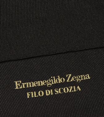 ERMENEGILDO ZEGNA: Chaussettes Noir - 48152151QI
