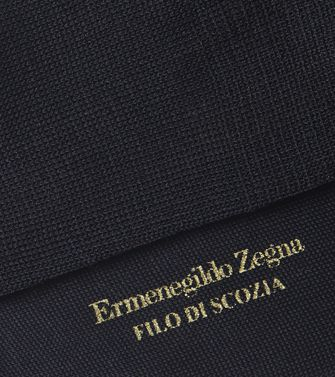 ERMENEGILDO ZEGNA: Socks Dark blue - 48152182VS